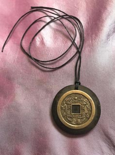Replica of an Old Chinese Coin Necklace